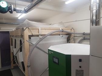 Pellet Boiler & Pellet Storage Hopper