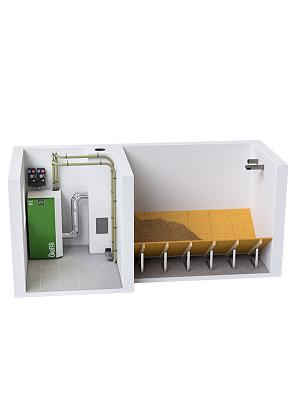 ÖkoFEN pellet storage room